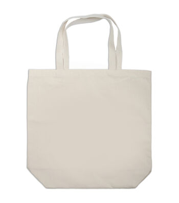 "Canvas Large Tote Bag 17""x5.25""x16.5-Natural"