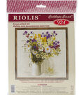 Wildflowers Counted Cross Stitch Kit 15 Count