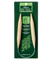 Clover® Takumi 24'' No. 19 Bamboo Circular Knitting Needles, , hi-res