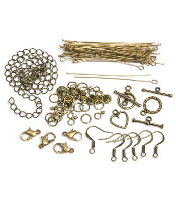 Jewelry Basics Starter Pack 145/Pk-Antique Gold