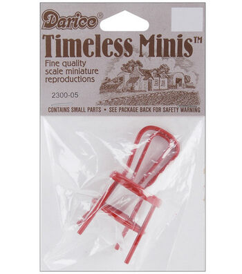 "Darice Timeless Miniatures-2.25"" Metal Chair"