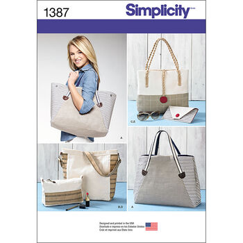 Simplicity Pattern 1387OS One Size -Crafts Accessories