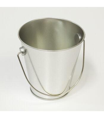 Hampton Art™ Small Tin Pail-Silver