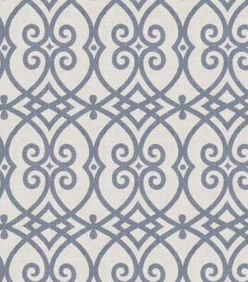 "Jaclyn Smith Upholstery Fabric 54""-Gatework Rot/Indigo"