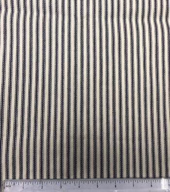 Cotton Ticking Mattress Utility Fabric 57''-Blue