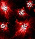 WWE Logo Fleece Fabric 59\u0022-Logo Red Bursts