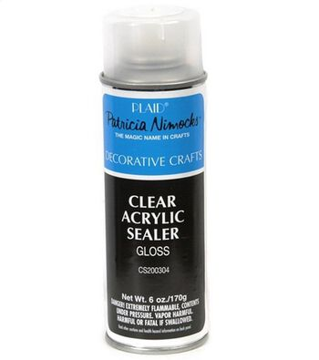 Plaid Clear Acrylic Sealer-Gloss 6 Ounces