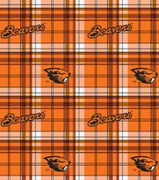 "Oregon State University Beavers Fleece Fabric 58""-Plaid, , hi-res"