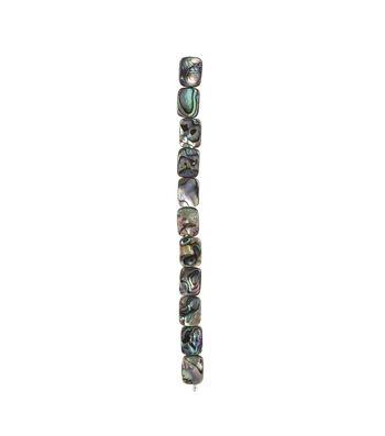 Abalone Rectangular Beads, Medium, 7-inch Strand