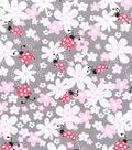 Nursery Flannel Fabric 42\u0022-Lady Bug Floral