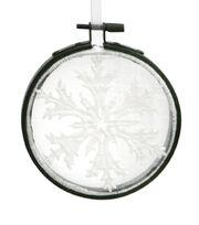 Maker's Holiday Christmas Handmade Holiday Lace Snowflake Ornament-White, , hi-res