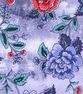 Buttercream™ Poppy Collection Cotton Fabric-Lg Floral Lt Blue