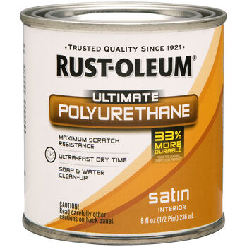 Rust-Oleum Ultimate Polyurethane Clear Satin 8oz