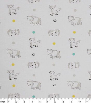 "Nursery Flannel Fabric 42""-Soft Woodlands"