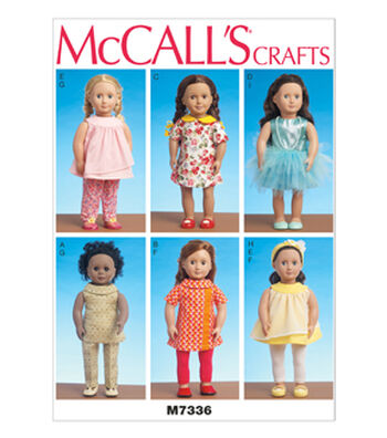 McCall's Crafts Doll Clothes-M7336