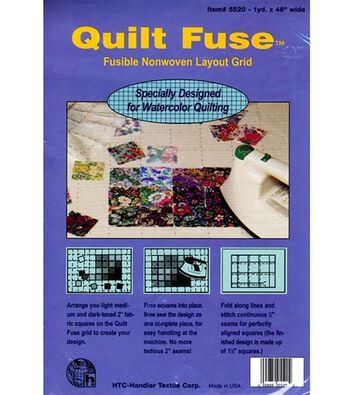 """Quilt Fuse Fusible Non-Woven Layout Grid-48""""X36"""""""