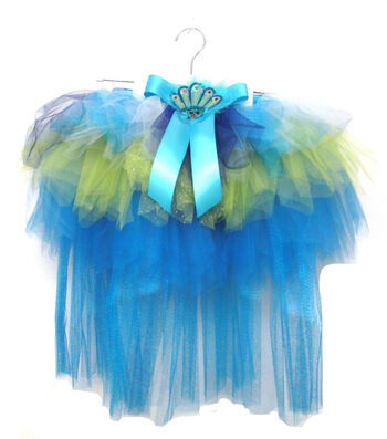 Maker's Halloween Child Tutu-Peacock Tail