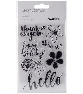 """Wildflower Clear Stamps 6""""X4"""""""