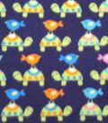 Anti-Pill Fleece Fabric 59\u0022-Turtles And Birds