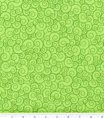 "Keepsake Calico™ Cotton Fabric 44""-Swirl Lime Garden"