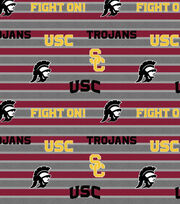 "University of Southern California Trojans Fleece Fabric 58""-Stripe, , hi-res"