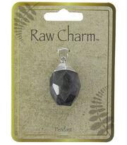 Naturals Raw Charm Purple Silver Pendant, , hi-res