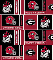 "University of Georgia Bulldogs Cotton Fabric 44""-Herringbone Box, , hi-res"