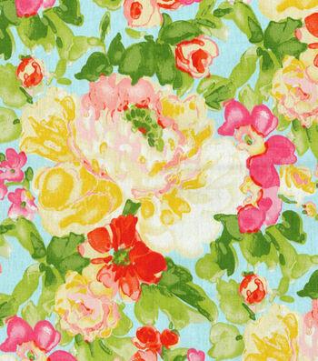 """Home Essentials Print Fabric 45""""-Blossom Boutique Aurora"""