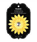 Headband Accent Flower with Jewel Yellow
