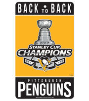 Pittsburgh Penguins 2017 Stanley Cup Champions Sign, , hi-res