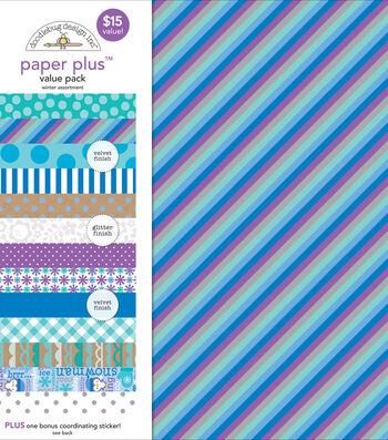 Doodlebug Paper Plus Value Pack-Winter Assortment