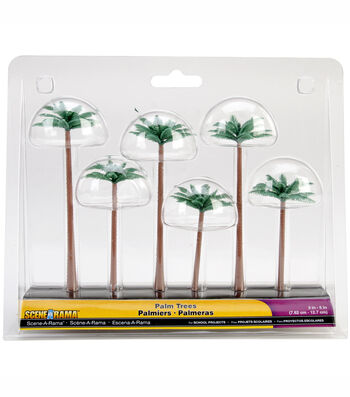 "Palm Trees 6/Pkg-3""-5"""