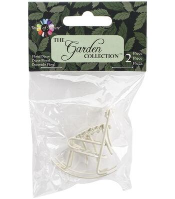 Midwest Design 2pcs Micro Mini Iron Garden Rocking Chair & Table Set