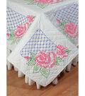 Fairway Needlecraft 6 pk 18\u0027\u0027x18\u0027\u0027 Stamped Quilt Blocks-Rose & Lattice
