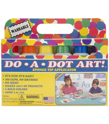 Do-A-Dot Art Set 6/Pkg-Rainbow