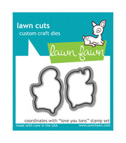Lawn Fawn Lawn Cuts Custom Craft Die -Love You Tons, , hi-res
