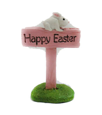 Easter Littles Polyresin Sign-Happy Easter