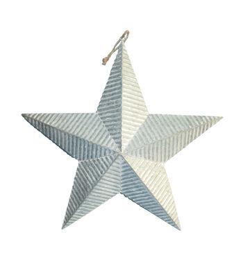 Maker's Holiday Christmas Galvanized Metal Corrugated Star Wall Decor
