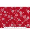 Keepsake Calico™ Holiday Cotton Fabric 43\u0022-Metallic Snowflake