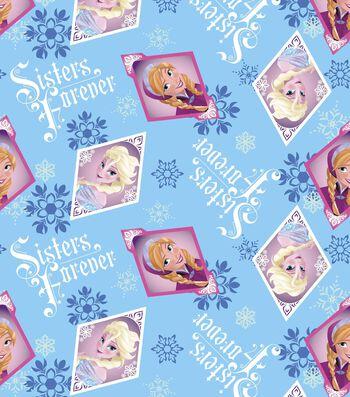 """Disney® Frozen Fleece Fabric 59""""-Sisters Frame"""