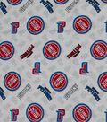 Detroit Pistons Cotton Fabric 44\u0022-Logo Toss