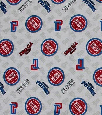 "Detroit Pistons Cotton Fabric 44""-Logo Toss"