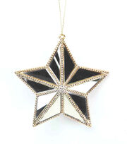 Maker's Holiday Christmas Holiday Charm Small Mirror Star Ornament, , hi-res
