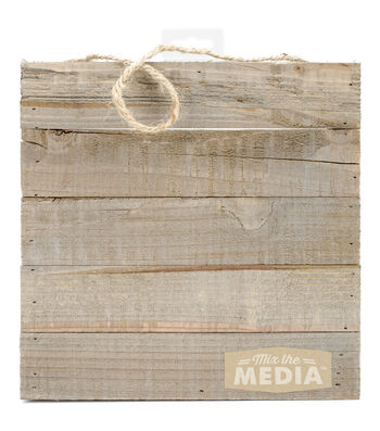 "Jillibean Soup Mix The Media Wooden Plank-10""X10"" Dark"