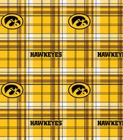 "University of Iowa Hawkeyes Fleece Fabric 60""-Plaid, , hi-res"