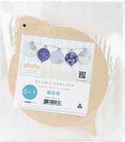 Kaisercraft Beyond The Page MDF 5 pk Craftwood Bauble Garland, , hi-res
