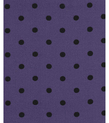 Holiday Showcase™ Halloween Cotton Fabric 43''-Black Dots on Purple