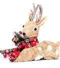 Blooming Holiday Sitting Deer With Antlers-Gold