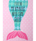 No-Sew Throw Fleece Fabric 48\u0022-Mermaids Pink