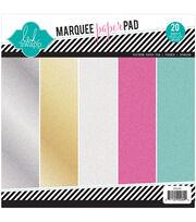 "Heidi Swapp Glitter Paper Pad 8.5""X8.5"" 20/Pkg-Marquee Love, , hi-res"